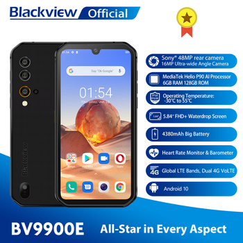 Blackview BV9900E Gel P90 Patikima Išmanųjį telefoną 6GB+128GB IP68 Vandeniui 4380mAh 48MP Kamera NFC su